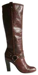 Frye Leather Braided Sadle/ Cognac Boots