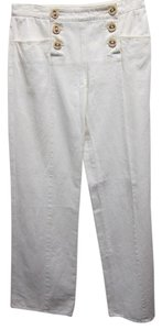 Chanel Sailor Pant White Summer Wide Leg Pants Eggshell