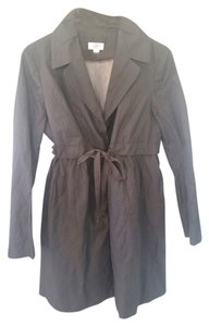 Ann Taylor LOFT Gray Ann Taylor LOFT maternity coat with ribbon belt