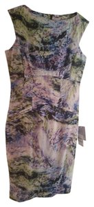 Maggy London Floral Sheath Fitted Dress