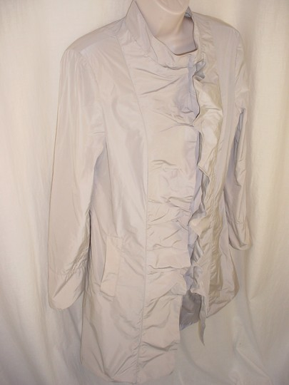Armani Collezioni Trench 8 S Tank Crinkle Ruffles Waterproof Pockets Lined Coat high-quality