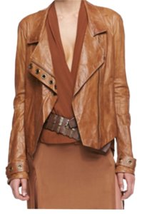 Donna Karan Brown Leather Jacket