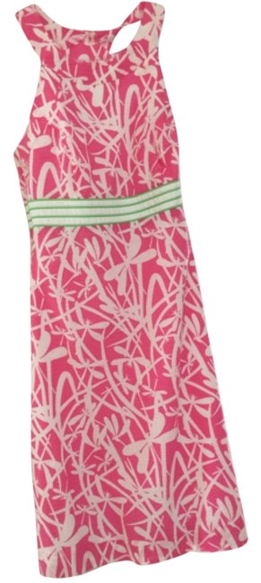 Preload https://img-static.tradesy.com/item/11291497/lilly-pulitzer-pink-white-green-above-knee-cocktail-dress-size-2-xs-0-1-650-650.jpg