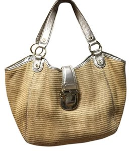Michael Kors Straw Summer Spring Gold Shoulder Bag