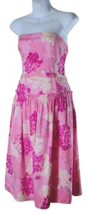 Odille short dress Pink Strapless on Tradesy