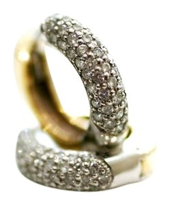 Mr & Mrs Italy 14kt Italian Pave Earrings
