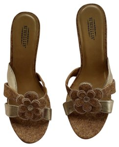 Seychelles Cork Wedge Gold Sandals