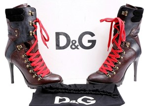 Dolce&Gabbana Mid Calf Leather Brown Boots