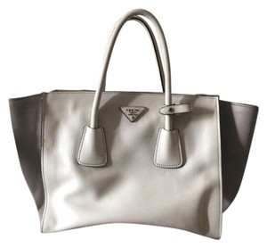 Prada Satchel in Grey/White