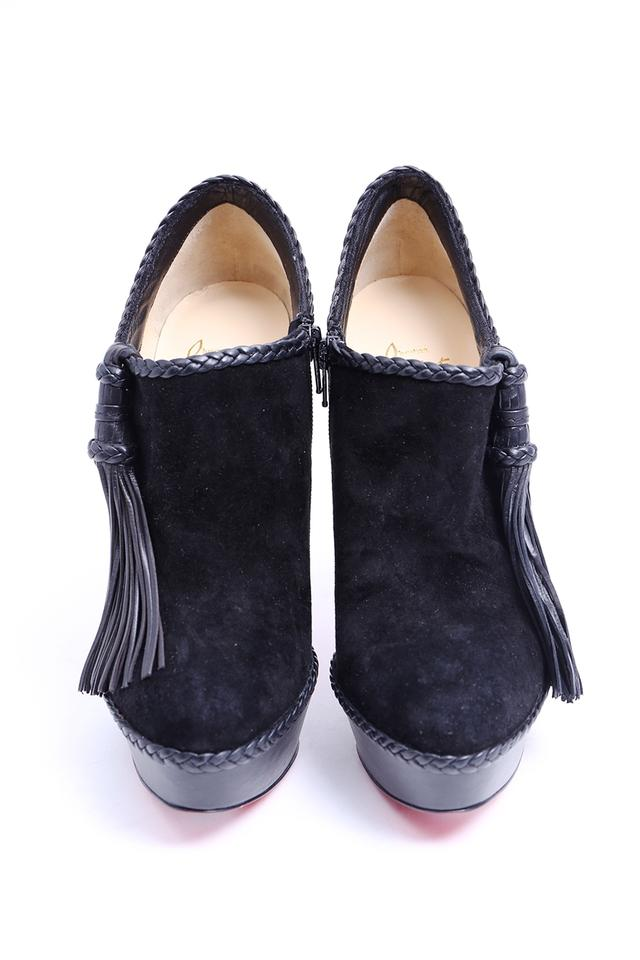 e259f20a263 Christian Louboutin Black * Sultane 140 Tassel Suede Boots/Booties Size US  9.5 Regular (M, B) 14% off retail