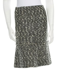 Chanel Boucle Skirt Dark green and multicolor