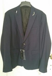 Just Cavalli New Men's Blazer Sport Coat Wool Navy Two Button Size 42