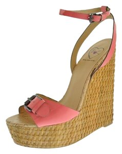 Penny Loves Kenny Brandi Pink Patent Wedges
