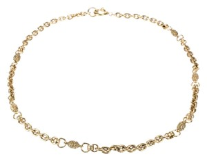 Chanel Chanel Gold Filigree Egg Necklace