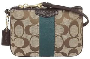 Coach Wristlet in Khaki/Racing Green