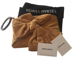 Sonia Rykiel New With Tags Suede Evening tan Clutch