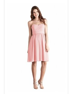 Donna Morgan Blush Chiffon Sarah Feminine Bridesmaid/Mob Dress Size 8 (M)