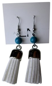 Lisa Nieves Suede tassel drop earrings