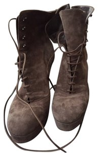 Gianvito Rossi Lace Up Taupe Boots