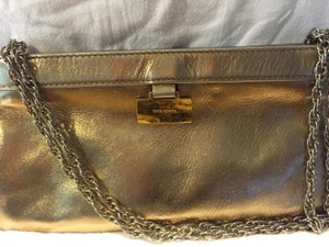 Kate Spade Metallic Gold Clutch