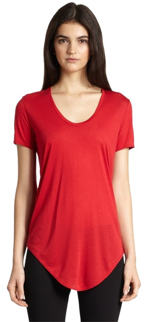 Item - Red Jersey Kinetic Modal Scoopneck Tee Shirt Size 0 (XS)