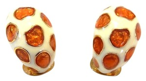 Kenneth Jay Lane Kenneth Jay Lane Enamel Animal Printed Clip On Earrings