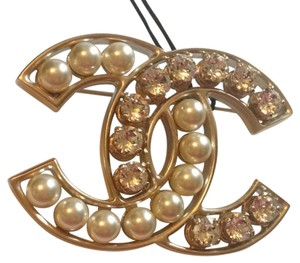 Chanel 2016 classic Crystal Pearl large Brooch