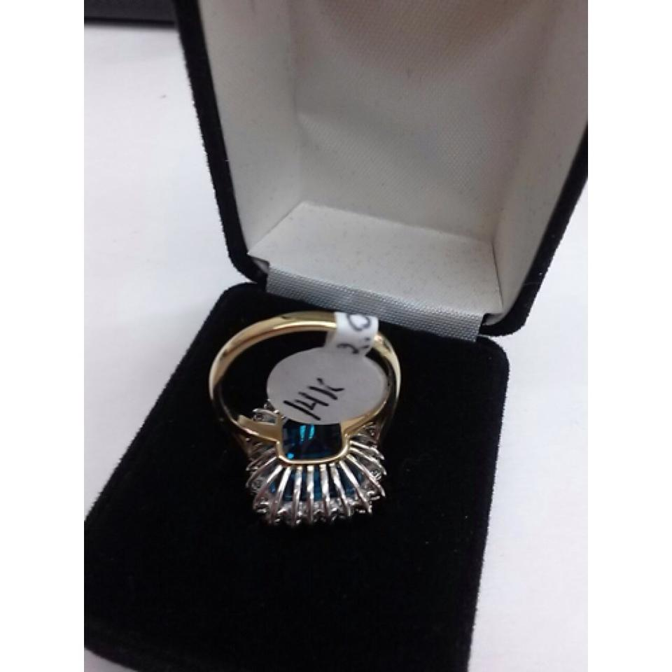 blue topaz stone 14 k gold 2 0 ct diamond ring brand new size 7 65 off 11294413 jewelry. Black Bedroom Furniture Sets. Home Design Ideas