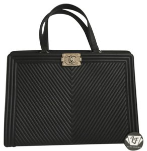 Chanel Gst Le Boy Tote in Black