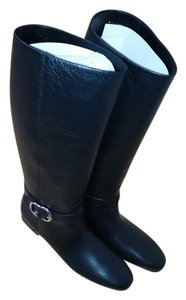 Gucci Ridingboot Leather Genuine Black Boots