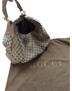 Gucci Jockey Brown Logo Hobo Bag