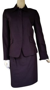 Anne Klein New ANNE KLEIN Brown Striped Career Skirt Suit 8
