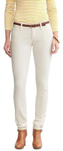 Banana Republic Cream Cords Cordouroy Skinny Pants White