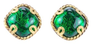 Dominique Aurientis Dominique Aurientis Green Gripoix Earrings