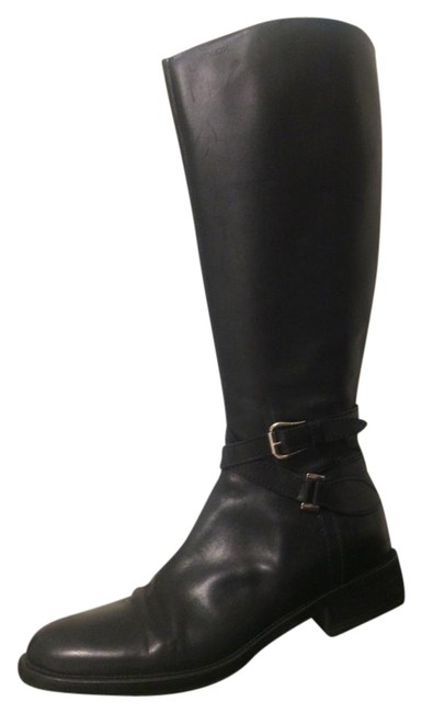 Black Leather - Boots/Booties Size US 9.5 Regular (M, B) Black Leather - Boots/Booties Size US 9.5 Regular (M, B) Image 1