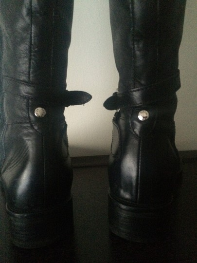 Goex black leather Boots Image 2