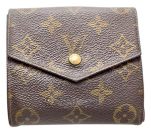Louis Vuitton 100% Authentic Louis Vuitton Monogram Double Snap Wallet with Coin Purse