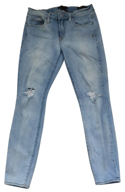 Genetic Denim Lighht Blue with White Wash Skinny Jeans Size 28 (4, S) Genetic Denim Lighht Blue with White Wash Skinny Jeans Size 28 (4, S) Image 1