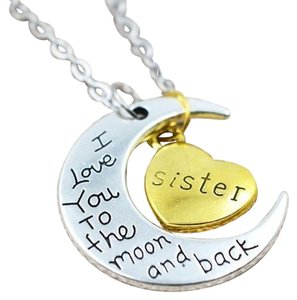 Other New Sister I Love You To The Moon And Back Pendant Necklace