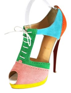Christian Louboutin Suede Multi Color Pumps