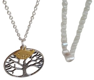 Other New tree of life necklace, tree necklace, bird jewelry, antique silver necklace, tree of life jewelry pendant, sparrow necklace