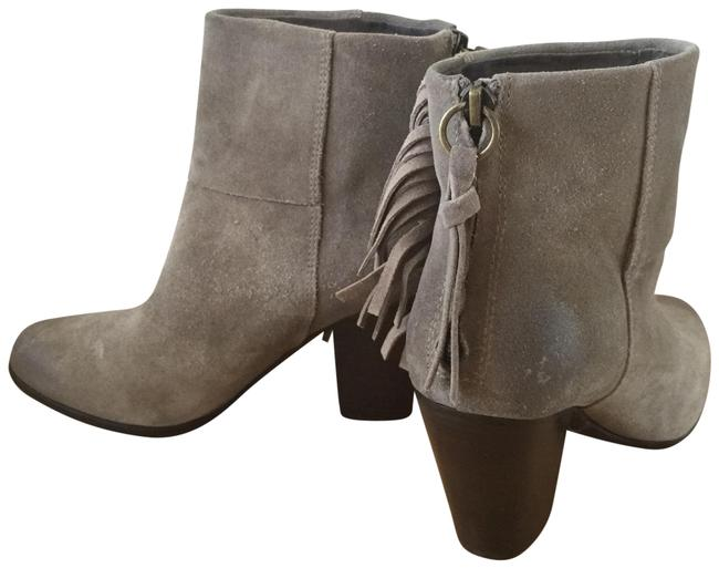 Ash Gray Fringe Suede Distressed Boots/Booties Size US 7.5 Regular (M, B) Ash Gray Fringe Suede Distressed Boots/Booties Size US 7.5 Regular (M, B) Image 1