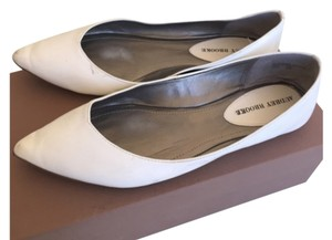 Audrey Brooke Flat Pointed Toe White Flats