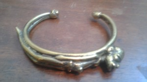 Other oversized brass bracelet