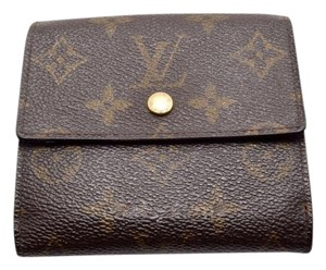 Louis Vuitton 100% Authentic Louis Vuitton Brown Monogram Porte-Monnaie Billets Cartes Tri-fold Snap Wallet with Coin Purse