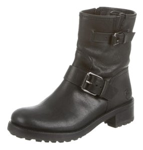Tory Burch Lace Up Black Boots