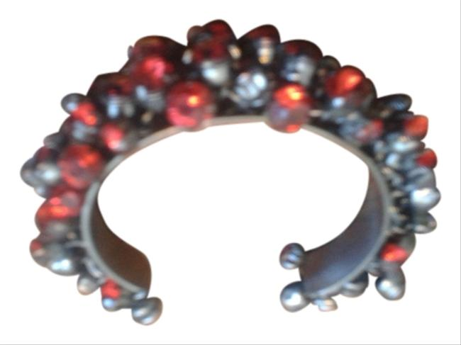 Metal with Red Stones Bracelet Metal with Red Stones Bracelet Image 1