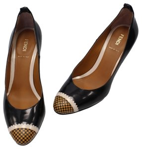 Fendi Heels Rare Classic Fashion Summer Black Pumps
