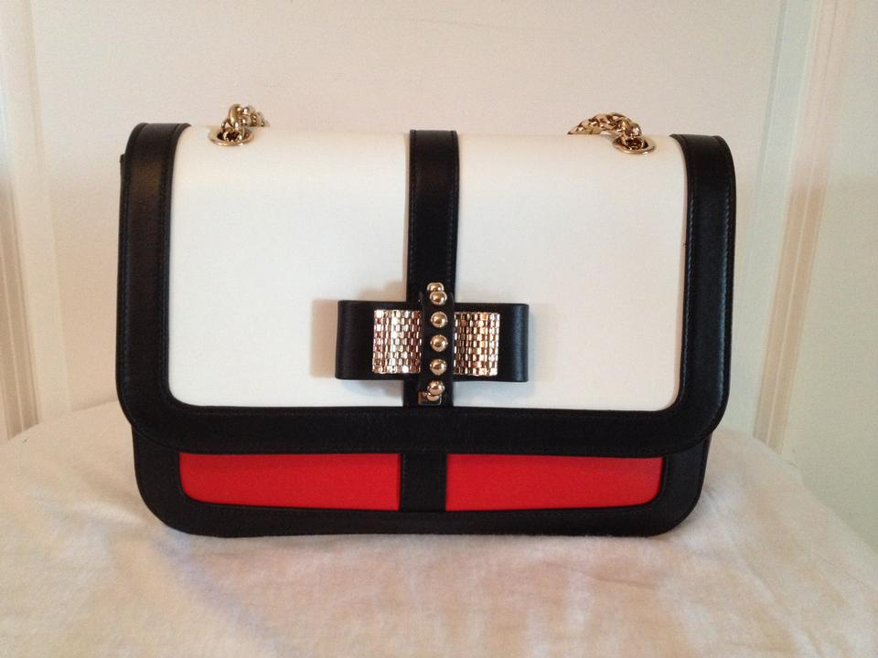 28bfbbe404b Christian Louboutin Black White Red Cabazon Sweet Charity Stunning Multi  Color Leather Shoulder Bag 47% off retail