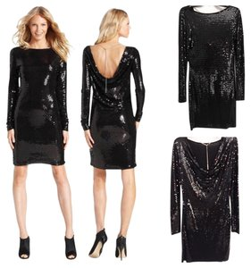 Michael Kors Cowl Sequin Gold Gold Chain Dress